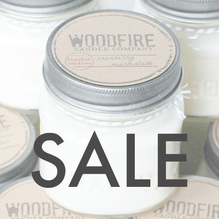 SALE Pick 3 Mason Jar Wood Wick Soy Candle - Woodfire Candle Co - 2