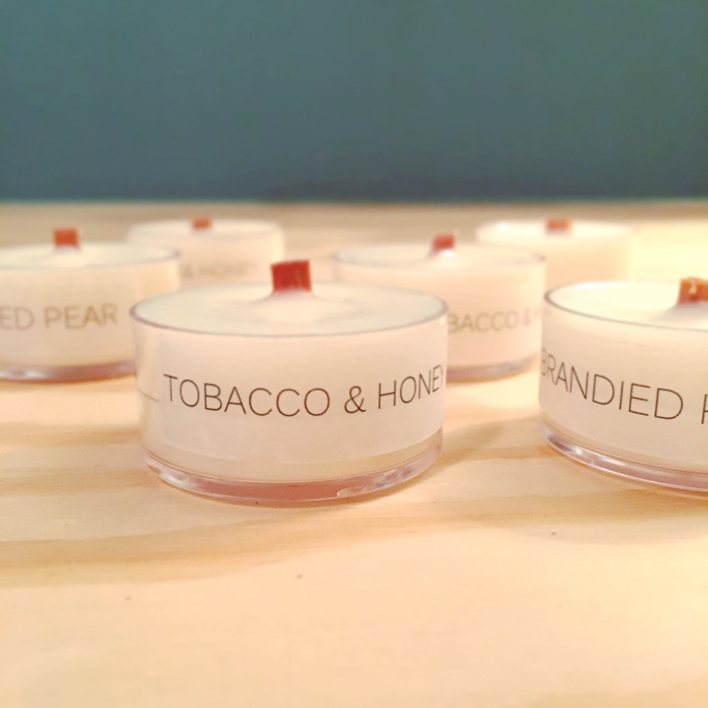 Soy Wood Wick Tealight Samples - Woodfire Candle Co