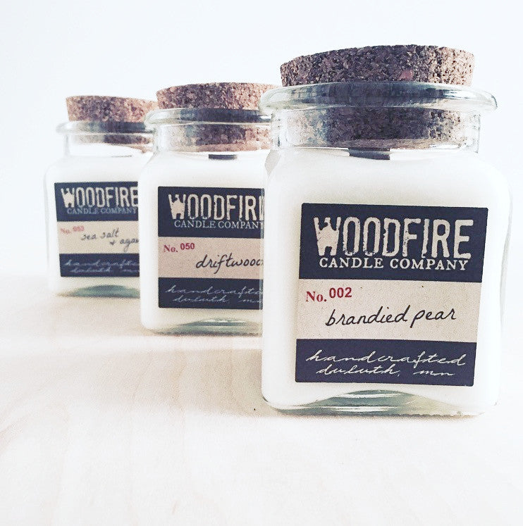Pick 3 Apothecary Wood Wick Soy Candle - Woodfire Candle Co - 1