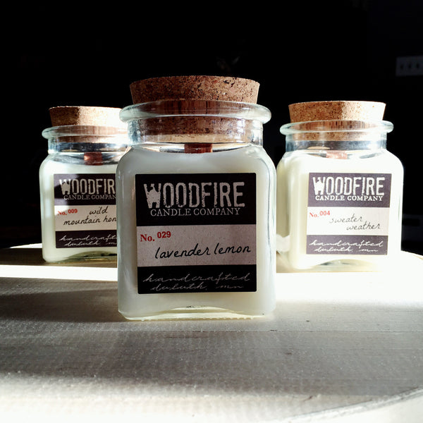 Pick 3 Apothecary Wood Wick Soy Candle Woodfire Candle Co