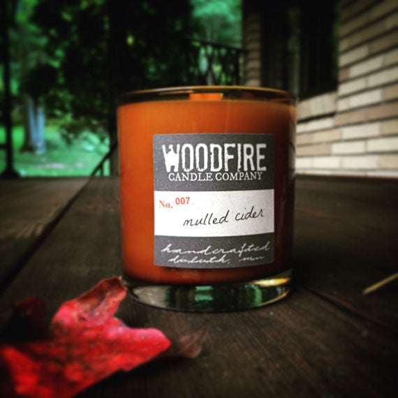Whiskey Glass Soy Wood Wick Candle