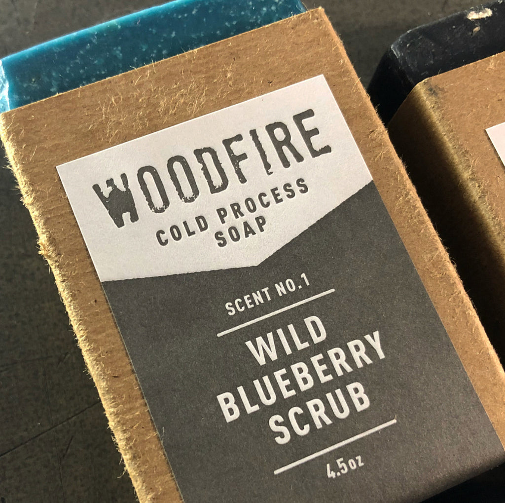 Wild Blueberry Scrub Cold Process Soap by Woodfire Candle Co