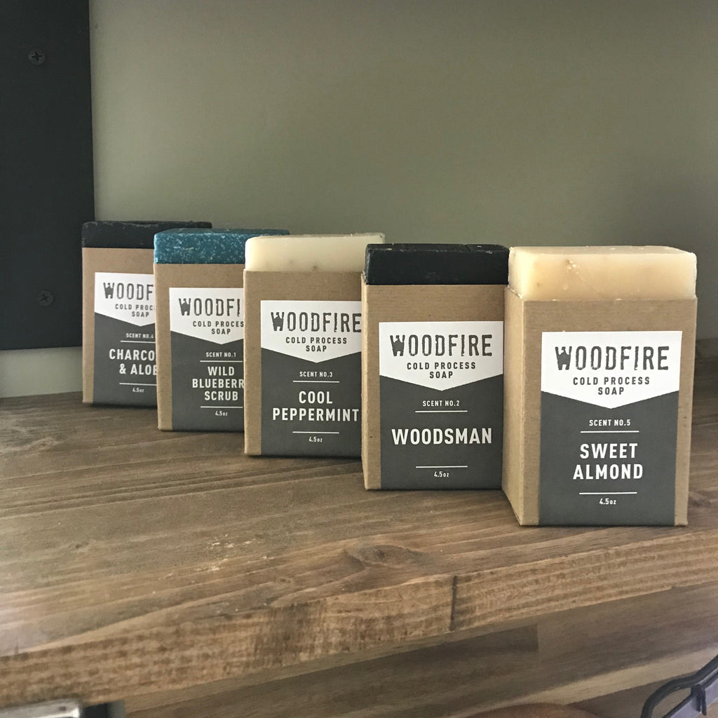 Cold process soaps by Woodfire Candle Co