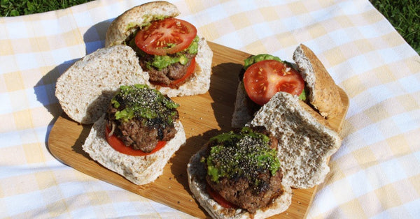 Healthy homemade burgers