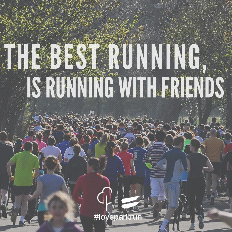 The best running is running with friends