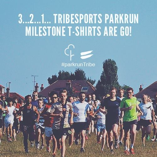 Tribesports parkrun milestone t-shirts are go