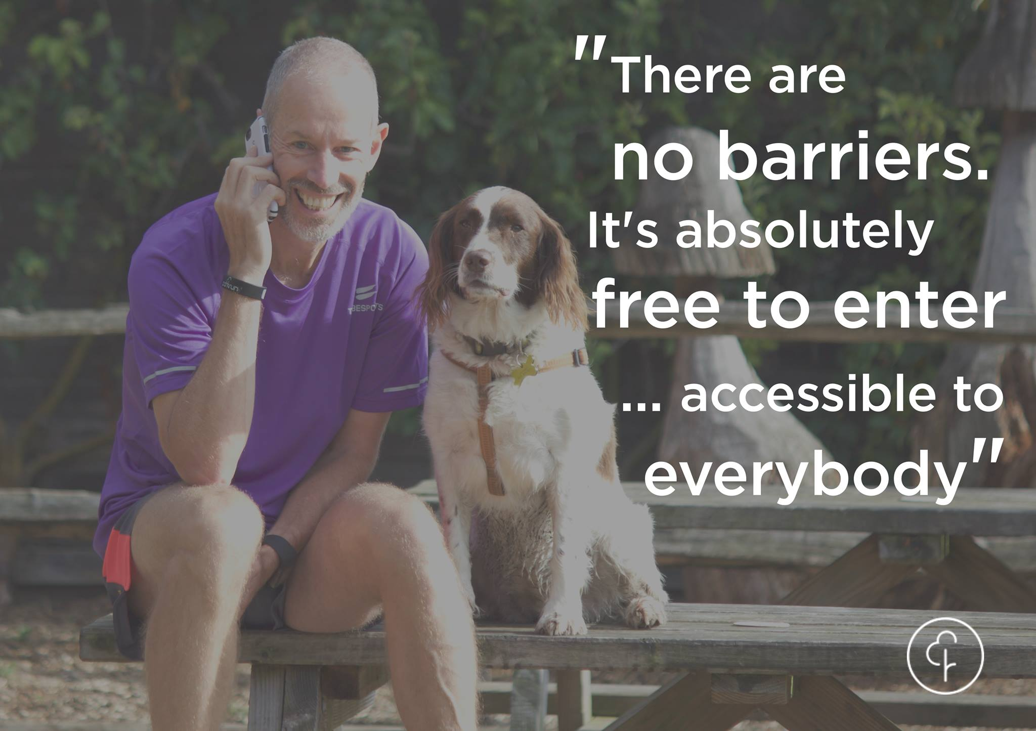 parkrun - there are no barriers, it's absolutely free to enter
