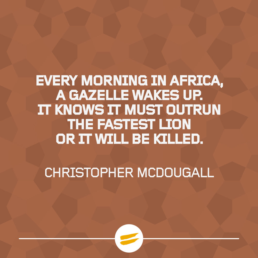 Every morning in Africa, a gazelle wakes up, it knows it must outrun the fastest lion or it will be killed