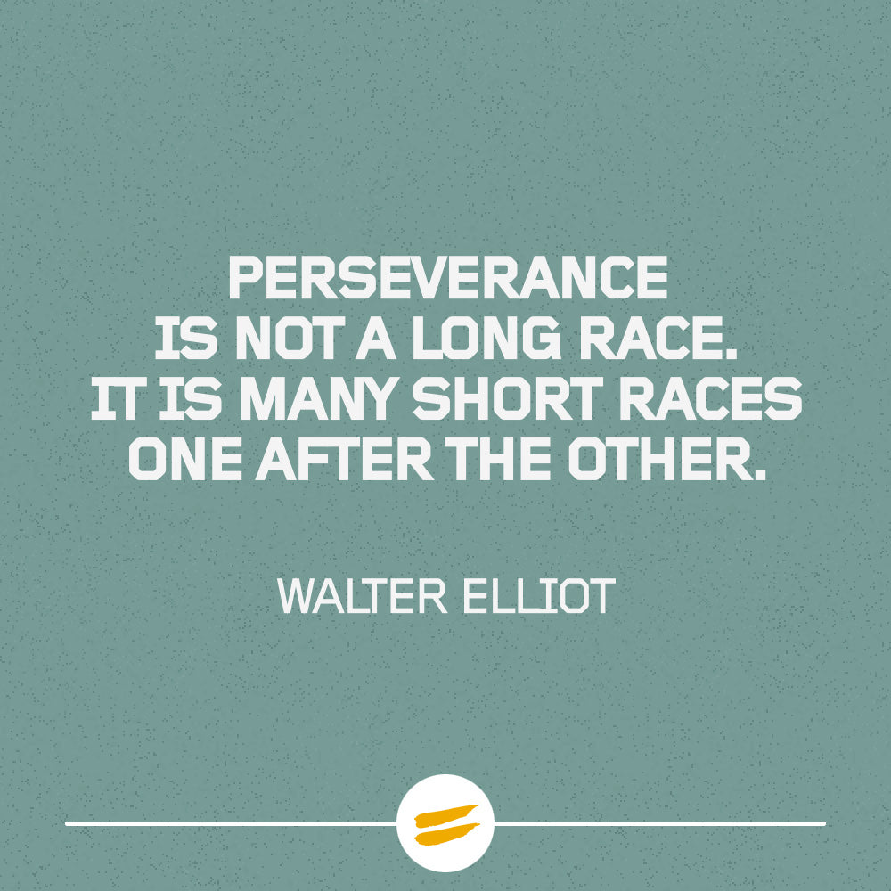Perseverance is not a long race. It is many short races one after the other.