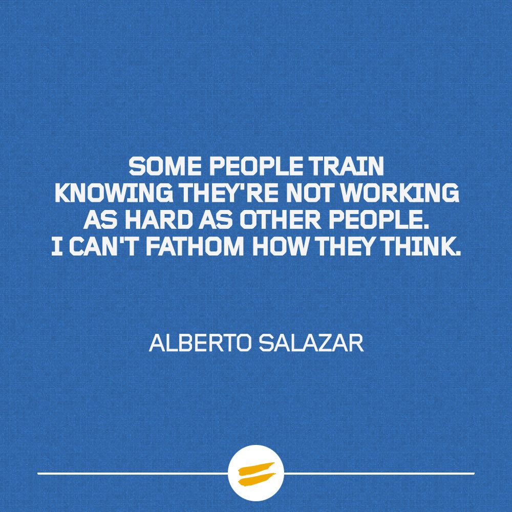 Some people train knowing they're not working as hard as other people. I can't fathom how they think