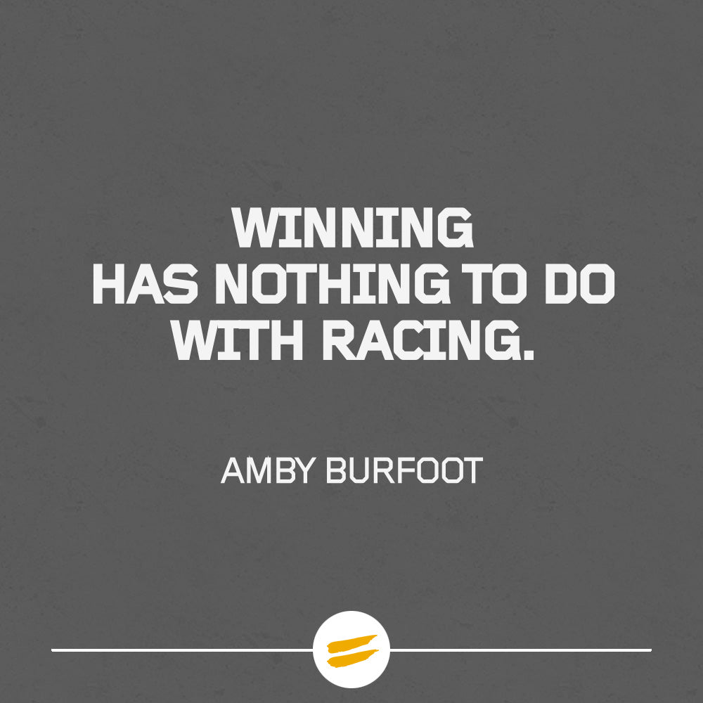 Winning has nothing to do with racing