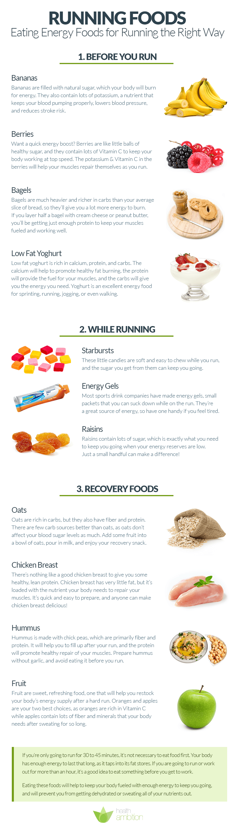 Running Foods – Eating Energy Foods for Running the Right Way