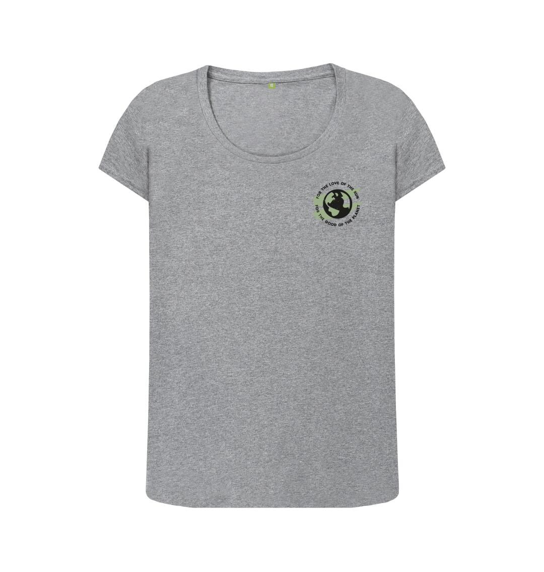 Athletic Grey Earth Scoop Tee in Terrain - Women's
