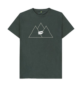 Dark Grey Summit Tee in Snow - Men's