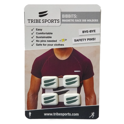 Tribesports Bibbits - Magnetic Race Bib Holders