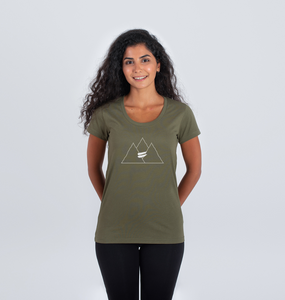 Summit Scoop Tee in Snow - Women's