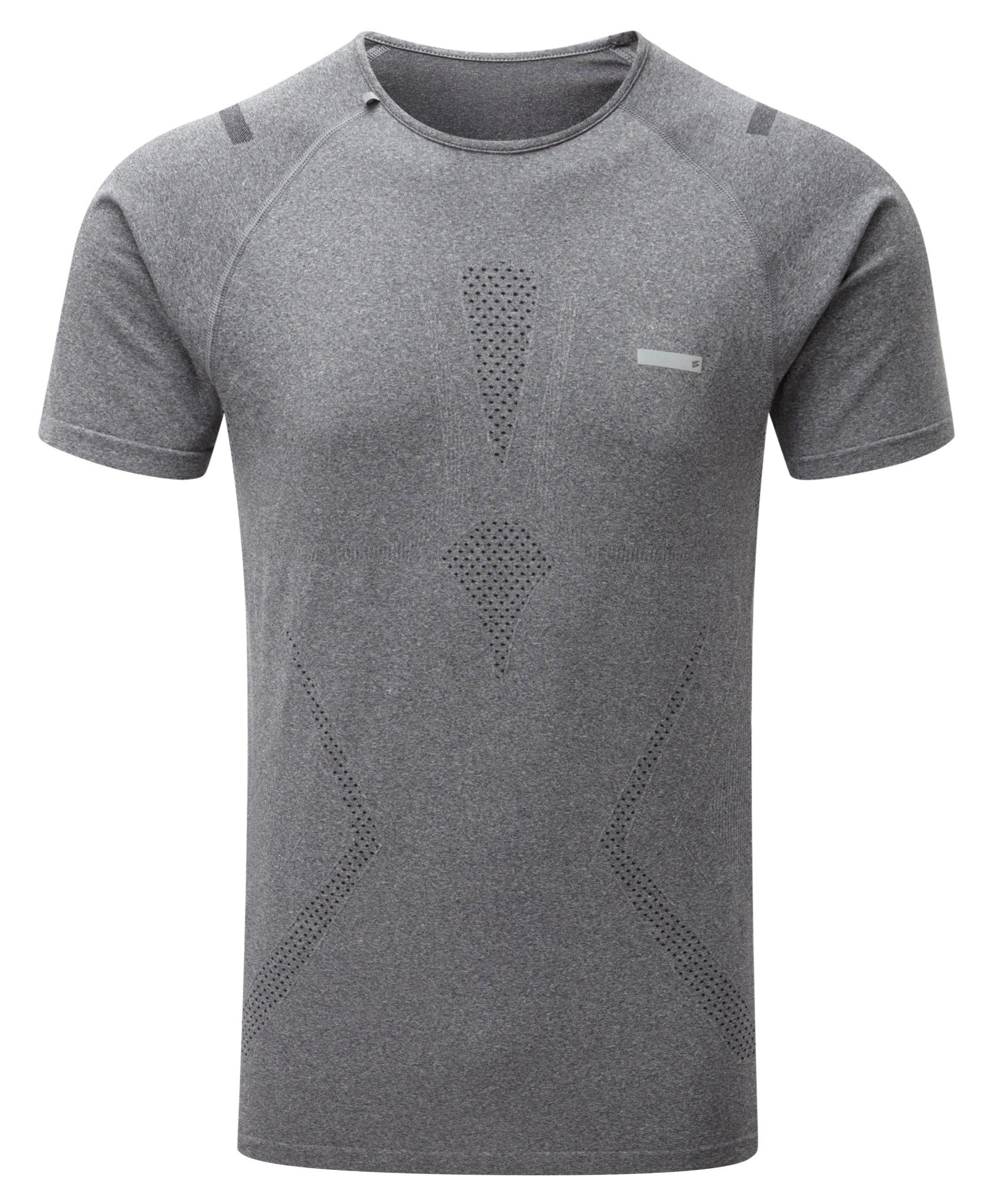 Engineered Short Sleeved Tee - Charcoal Grey Melange