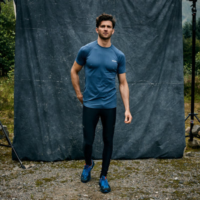 Engineered Short Sleeved Tee - Slate Blue
