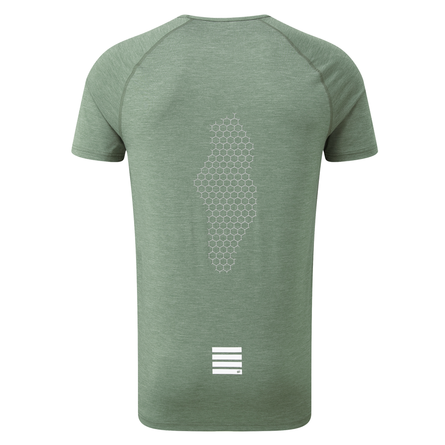 Tech Short Sleeve Tee - Green Heather