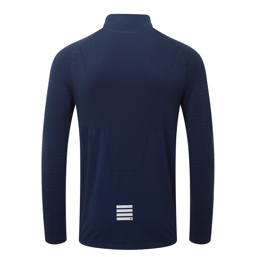 Engineered Long Sleeve Zip Tee - Navy