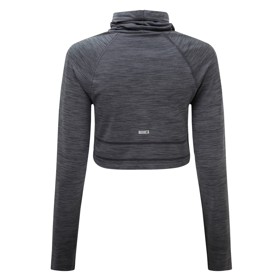 Cowl Neck Crop - Charcoal Grey