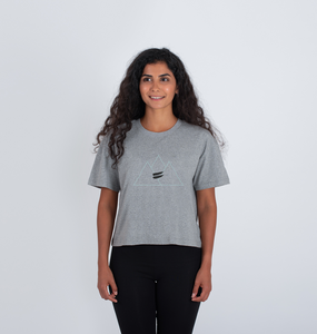 Summit Crop Tee in Sky - Women's