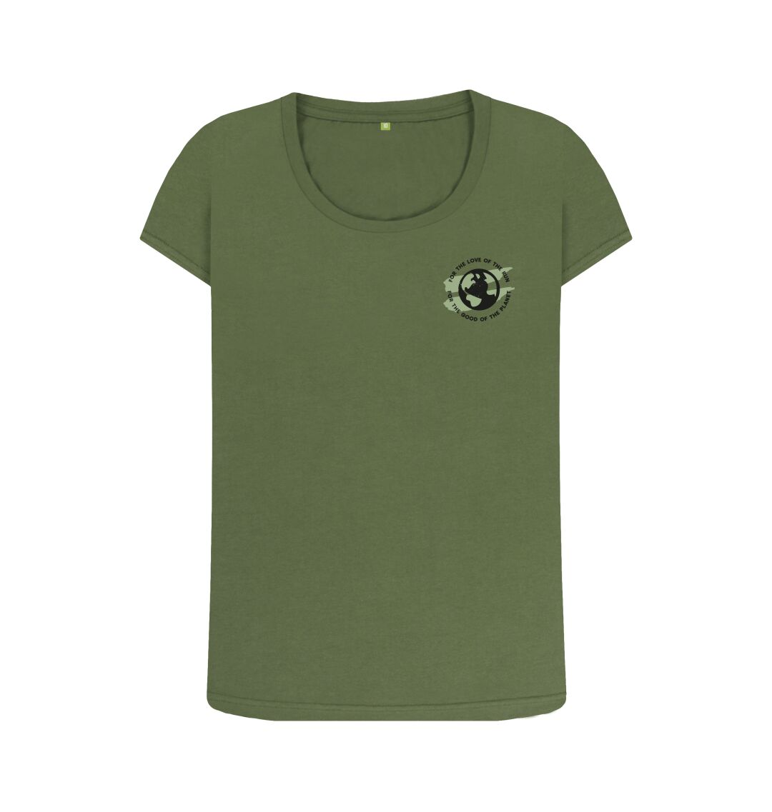 Khaki Earth Scoop Tee in Terrain - Women's