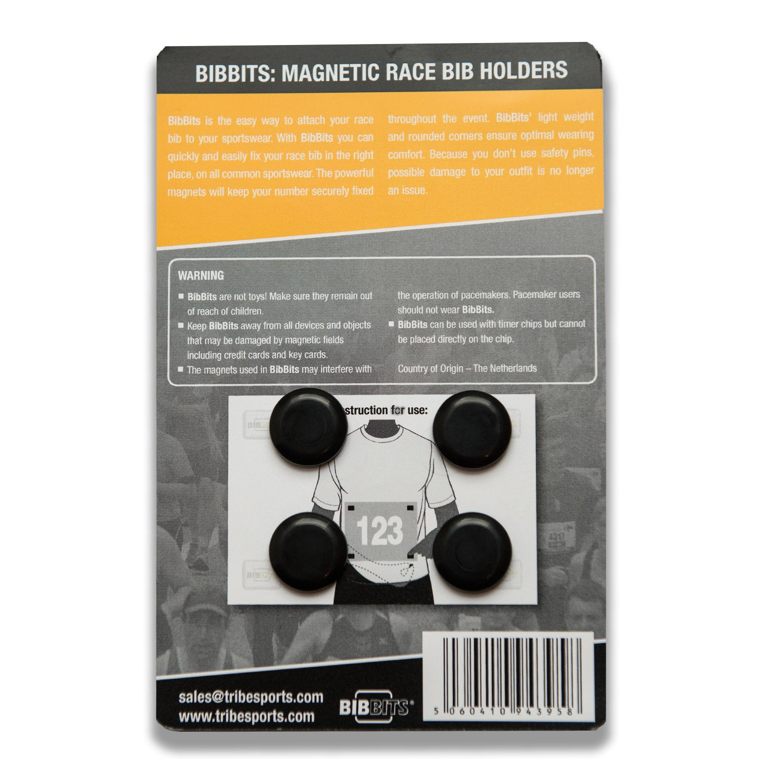 Tribesports Bibbits - Magnetic Race Bib Holders , Tribesports - 4