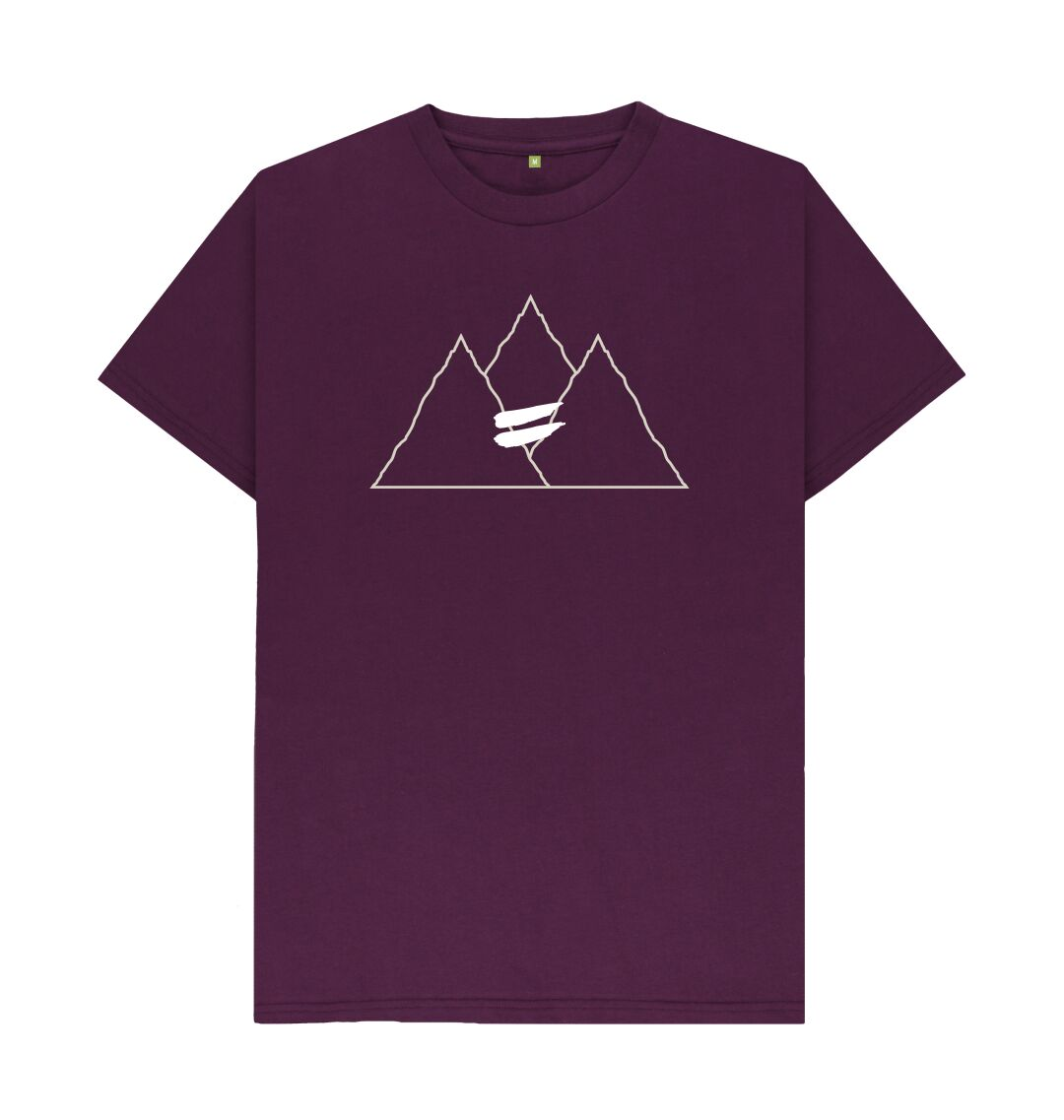 Purple Summit Tee in Snow - Men's