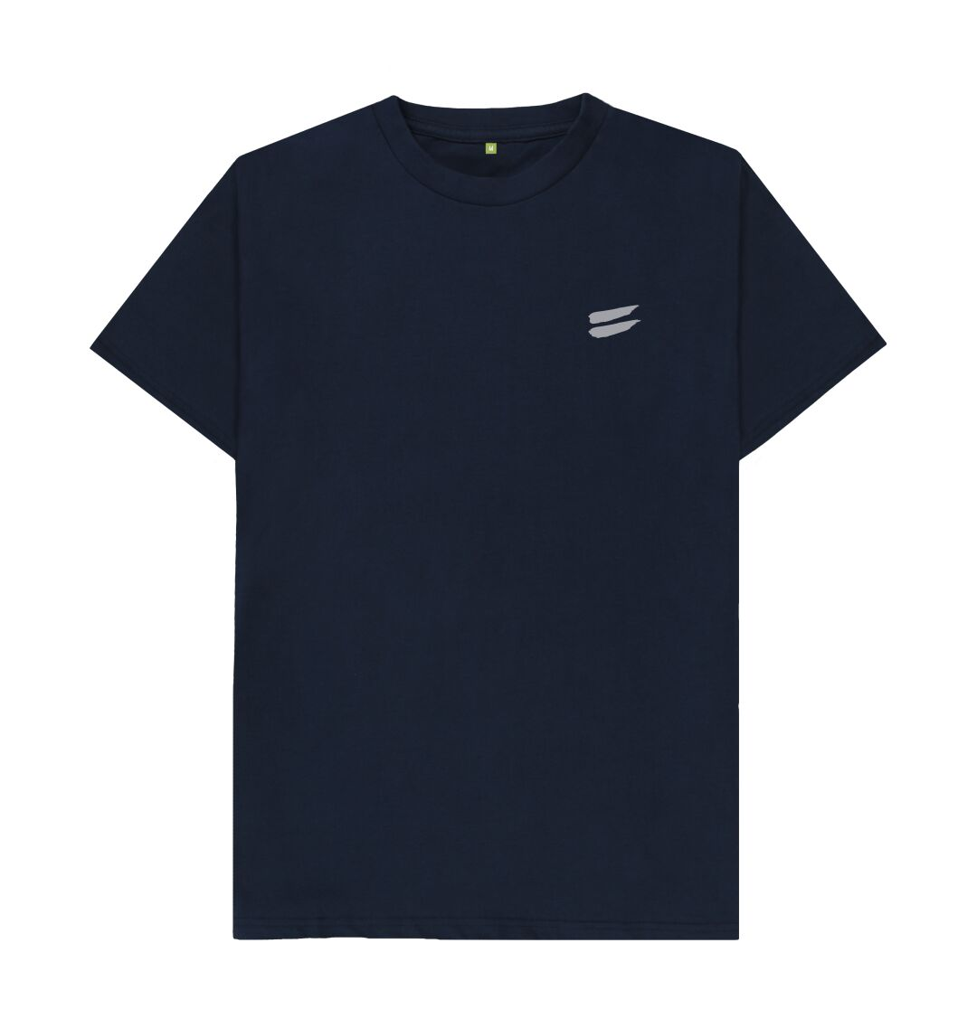 Navy Blue Tribe Tee in Steel - Men's