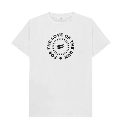 White For the Love of the Run Tee - Men's