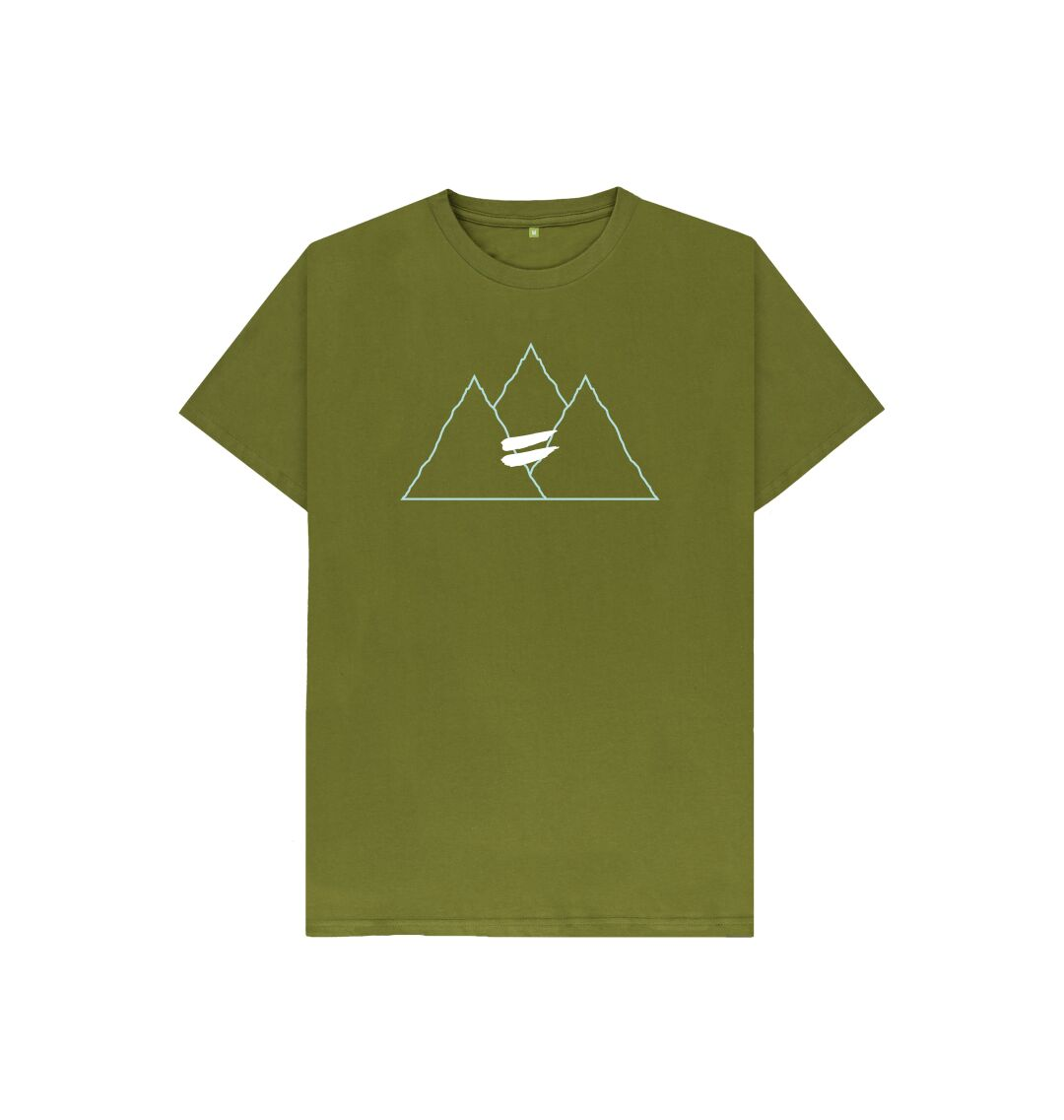 Moss Green Summit Tee in Sky - Kid's