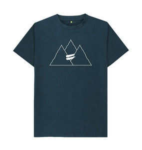 Denim Blue Summit Tee in Snow - Men's