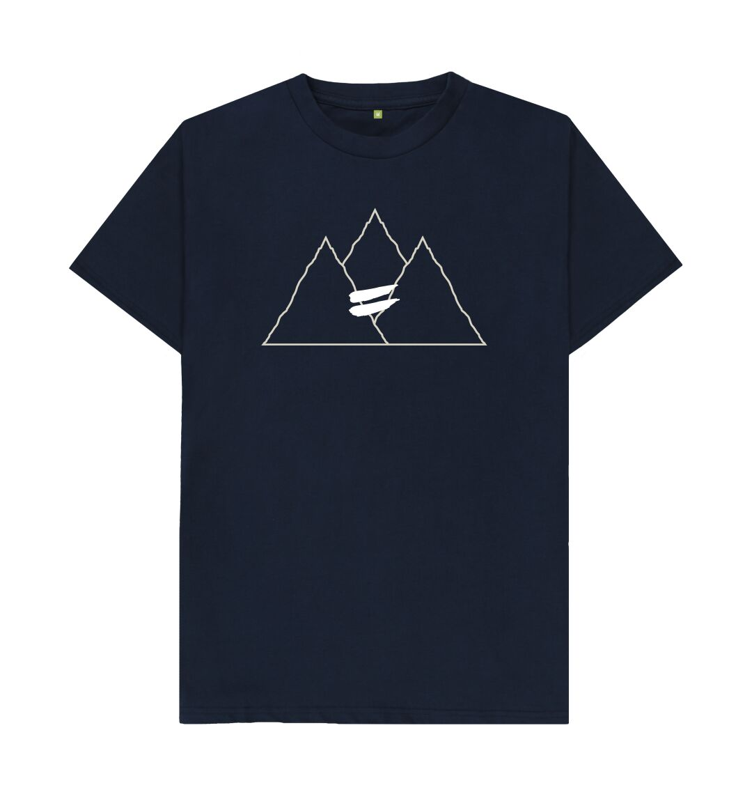 Navy Blue Summit Tee in Snow - Men's