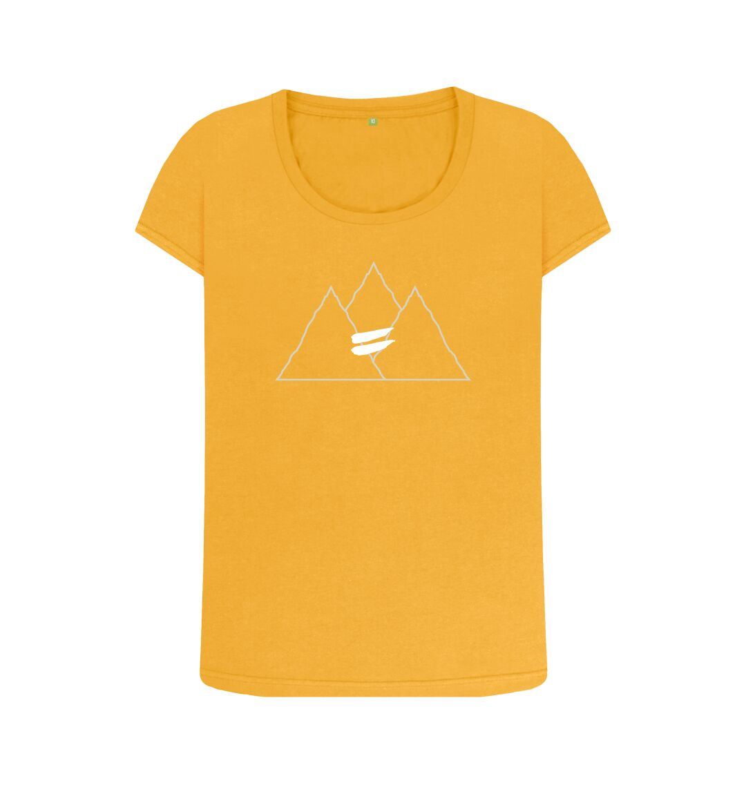 Mustard Summit Scoop Tee in Snow - Women's