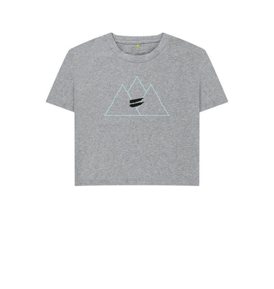 Athletic Grey Summit Crop Tee in Sky - Women's