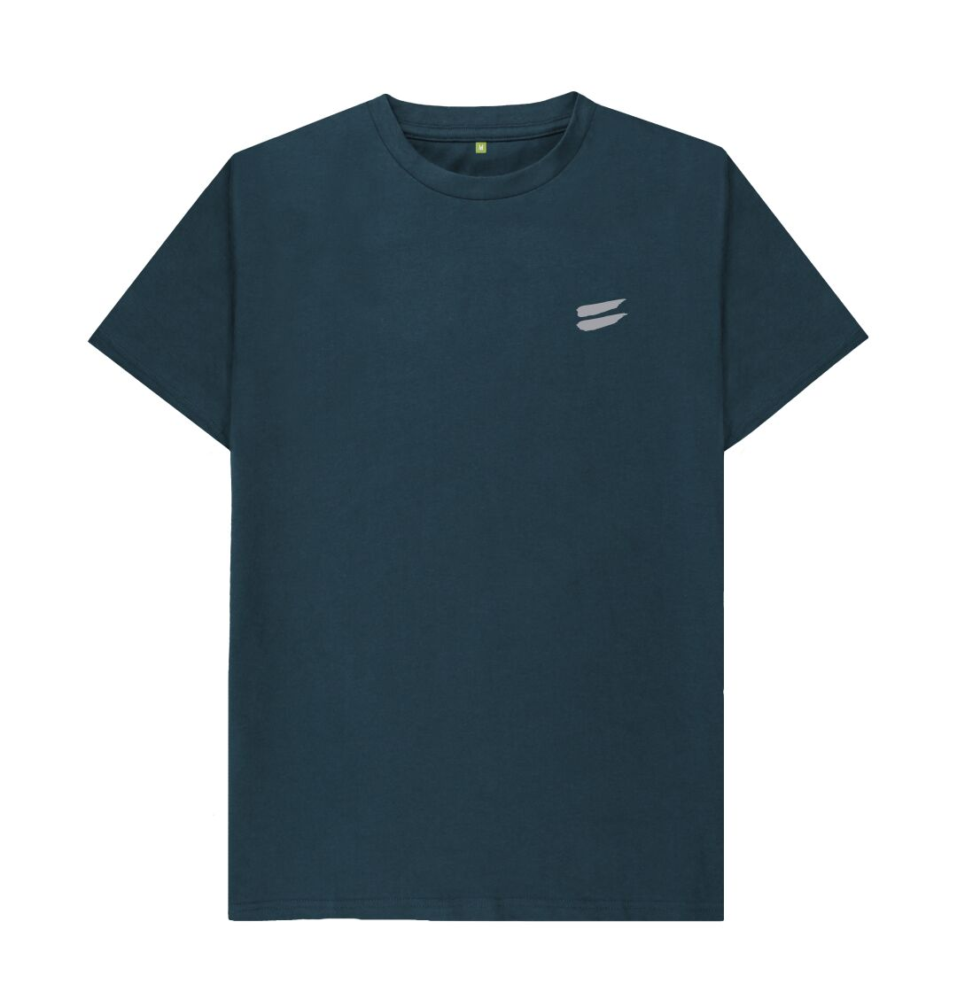 Denim Blue Tribe Tee in Steel - Men's