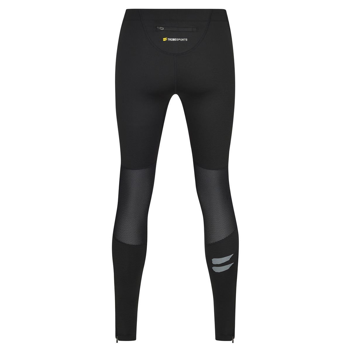 Men's Running Tights - Black / Charcoal , Tribesports - 2