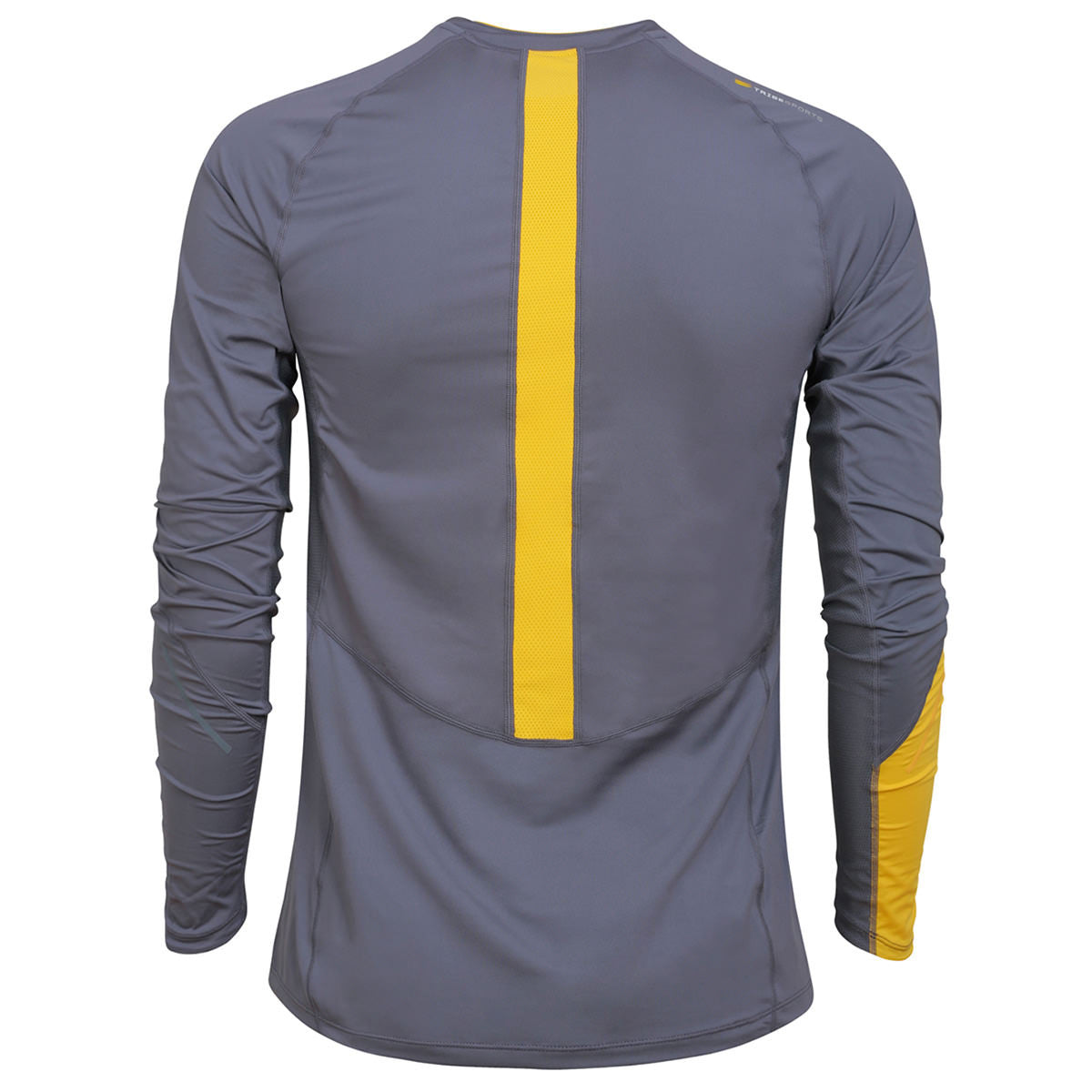 Men's Long Sleeve Running Top - Charcoal , Tribesports - 2