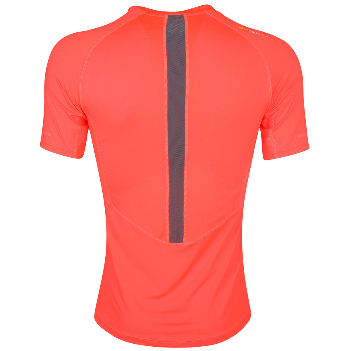 Men's Short Sleeve Running Top - Fire Red , Tribesports - 2