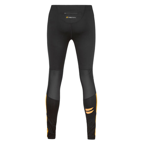 Men's Running Tights - Black / Yellow , Tribesports - 2