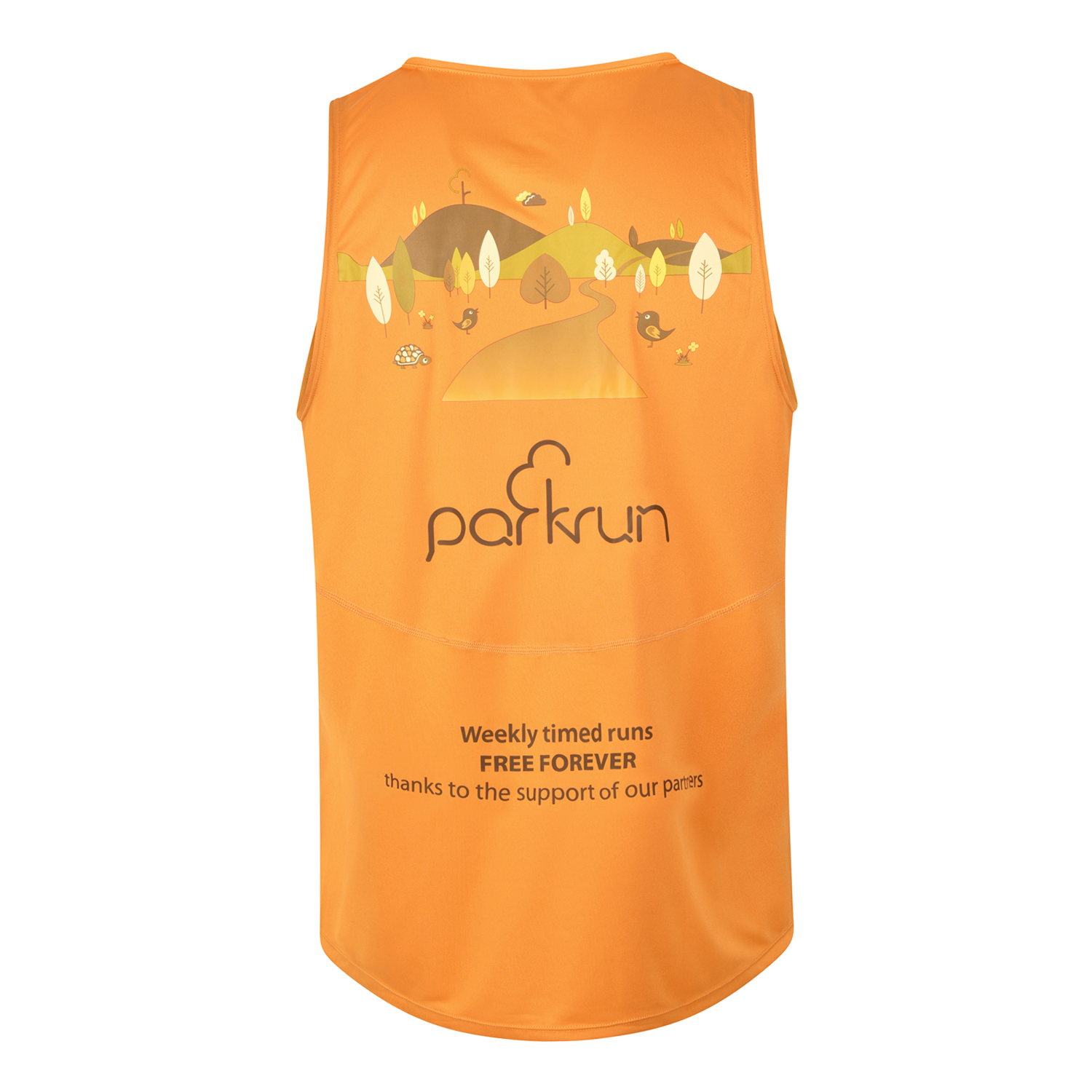 parkrun men's performance singlet , parkrun - 3