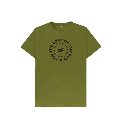 Moss Green For the Love of the Run Tee - Kid's