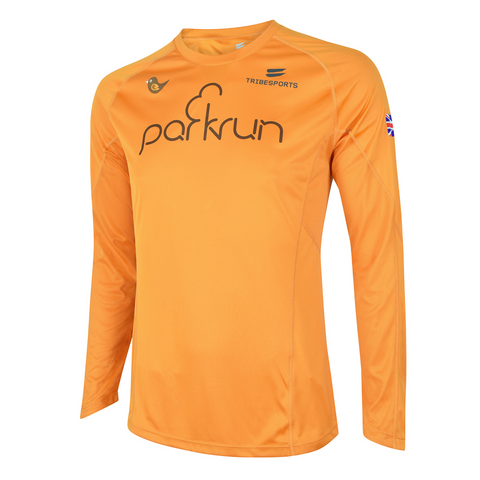 parkrun men's performance long sleeve t-shirt UK , parkrun - 1