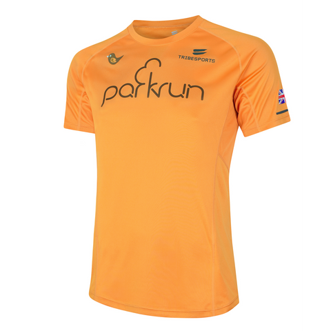 parkrun men's performance short sleeve t-shirt UK , parkrun - 1
