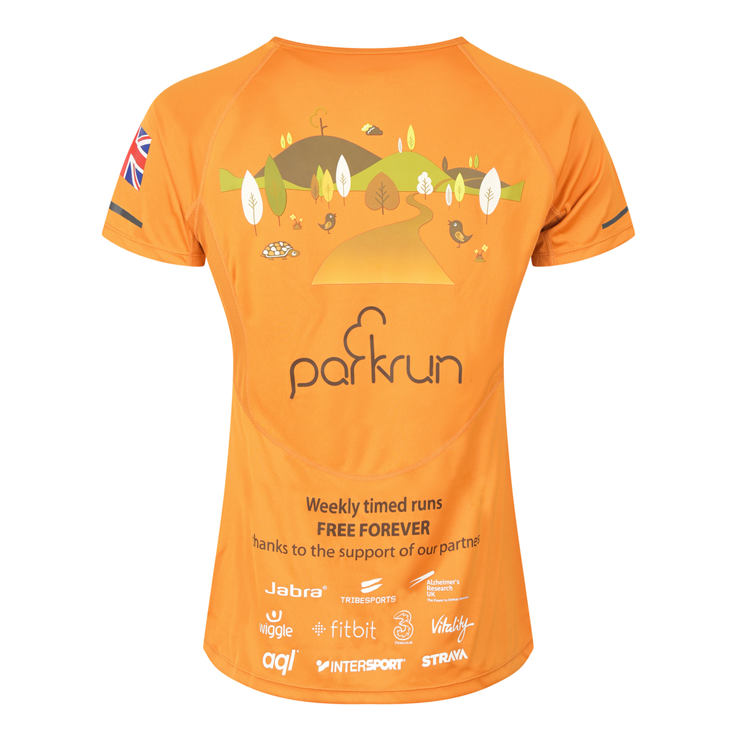 parkrun women's performance short sleeve t-shirt UK , parkrun - 3