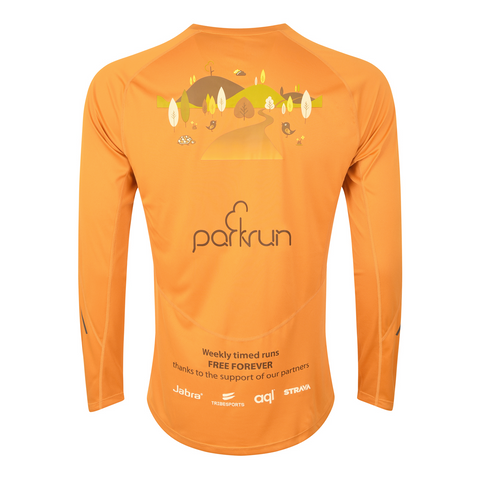 parkrun men's performance long sleeve t-shirt , parkrun - 2