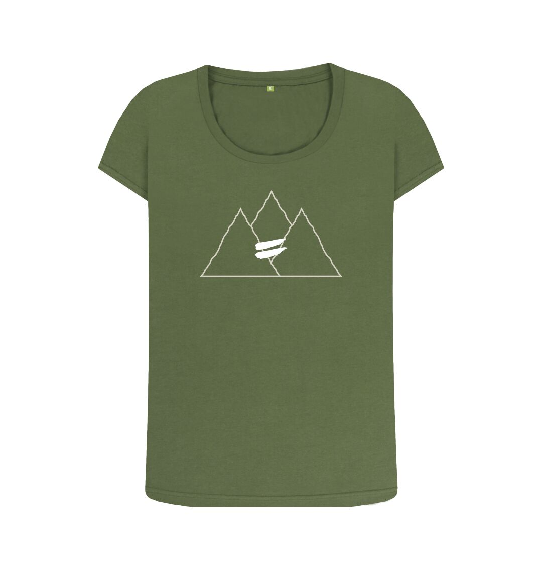 Khaki Summit Scoop Tee in Snow - Women's