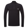 Merino Long Sleeve Zip T-shirt - Black