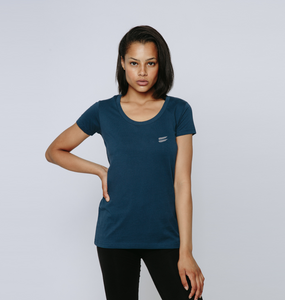 Tribe Scoop Tee in Steel - Women's
